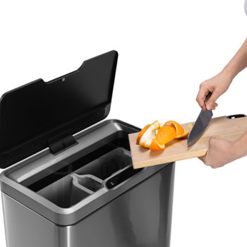 Современное сенсорное мусорное ведро EKO сортировка отходов