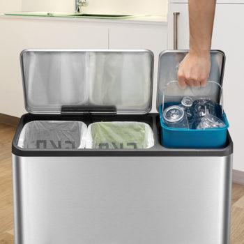Современное мусорное ведро для раздельного сбора мусора EKO 9128