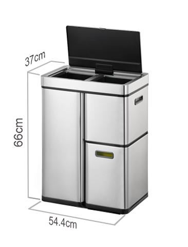 Автоматическое мусорное ведро для раздельного сбора отходов EKO серии MIRAGE PLUS EK9338