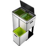 Современное сенсорное мусорное ведро для раздельного сбора мусора EKO 9338