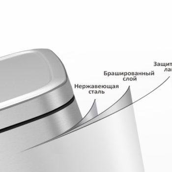 Мусорное ведро EKO 9384MT-6L - защита от отпечатков пальцев
