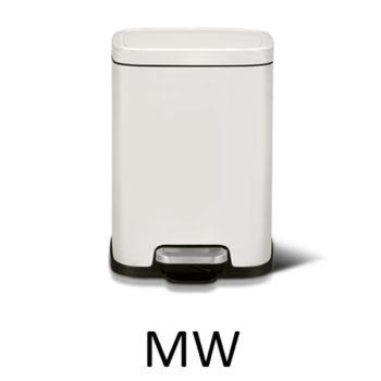 Мусорное ведро EKO EK9384P-6L-MW цвет белый матовый