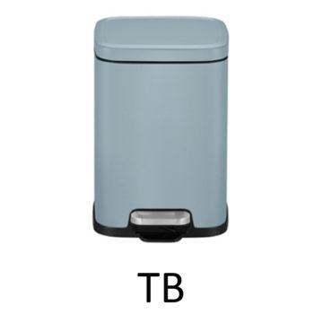 Мусорное ведро EKO EK9384P-6L-TB цвет голубой матовый