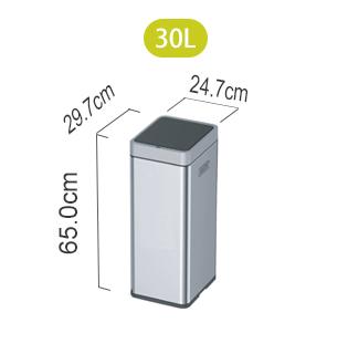 Сенсорное мусорное ведро EKO EK9270MT-30L габаритные размеры| EKO RUSSIA